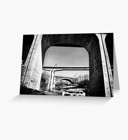 Three bridges over Ouseburn Greeting Card