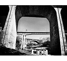 Three bridges over Ouseburn Photographic Print