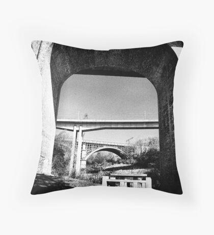 Three bridges over Ouseburn Throw Pillow
