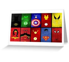 Superheroes Greeting Card