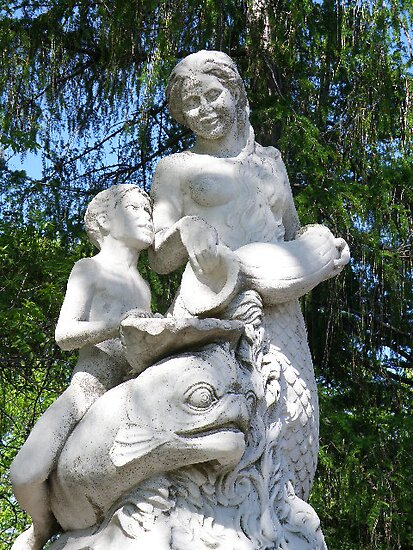 Annie Stewart Fountain: Mermaid, Triton and Porpoise by AuntieJ