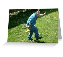 Funny Bunny Man Easter Card Greeting Card