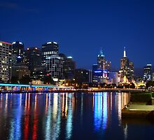 Melbourne City by night by dancjacob