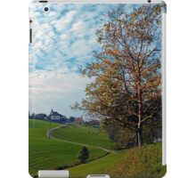 Trees, clouds and the trail up on the hill | landscape photography iPad Case/Skin
