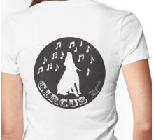 Circus the Singing Dog - B+W Logo black Womens Fitted T-Shirt