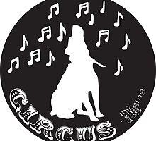 Circus the Singing Dog - B+W Logo black by Harmonicaleigh