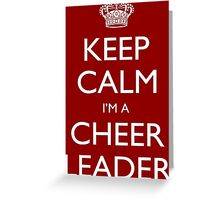 Keep Calm I'm A Cheer Leader - Tshirts, Mobile Covers and Posters Greeting Card