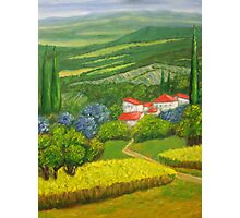 Tuscany Hillside Photographic Print