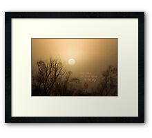 Early Dawn Framed Print