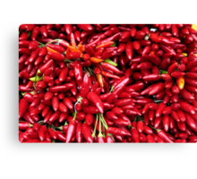 Paprika (Peppers) at a Market Stall.  Canvas Print