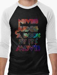Never Judge A Book By Its Movie - Space Edition! Men's Baseball ¾ T-Shirt