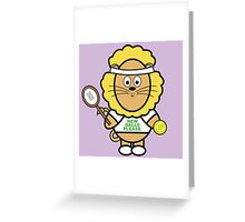 Victor playing tennis Greeting Card