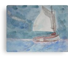 boat on water Canvas Print