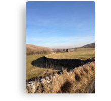 A road to nowhere in the Yorkshire Dales Canvas Print