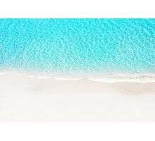 Sand beach with turquoise sea waves Photographic Print