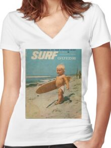 Born2Surf Women's Fitted V-Neck T-Shirt