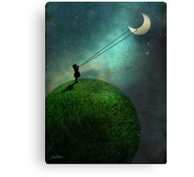 Chasing the moon Canvas Print