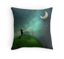 Chasing the moon Throw Pillow