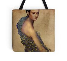 Peacock dress Tote Bag