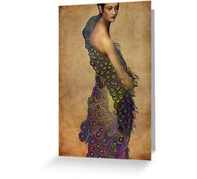 Peacock dress Greeting Card