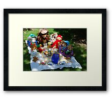 Baldur & His Pals at the Annual Teddy Bears Picnic! Framed Print