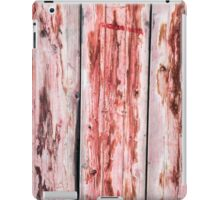 Abstract wood background with faded red paint iPad Case/Skin