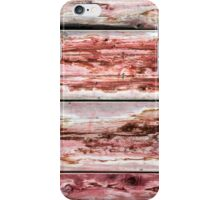 Abstract wood background with faded red paint iPhone Case/Skin