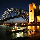 Sydney Harbour Bridge at Dusk by Beth  Morley