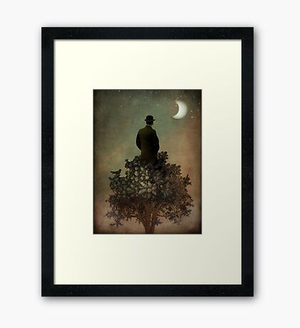 Man in tree Framed Print