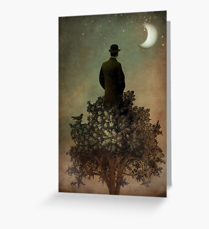 Man in tree Greeting Card