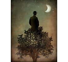 Man in tree Photographic Print
