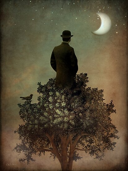 Man in tree by Catrin Welz-Stein
