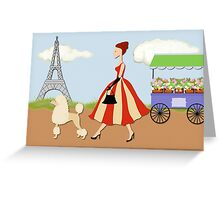 Paris Lady Greeting Card