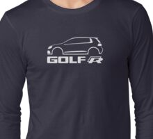 VW Golf R silhouette White Long Sleeve T-Shirt