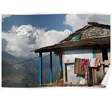 Home in Annapurna Region Poster