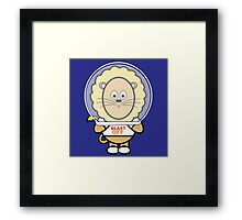 Victor exploring space Framed Print