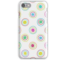 Seamless multicolor hand drawn circles pattern. iPhone Case/Skin