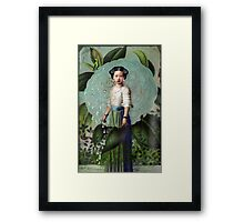 Morning Dew Girl Framed Print