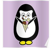 Penguin icecream Poster