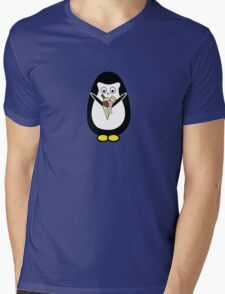 Penguin icecream Mens V-Neck T-Shirt