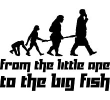 From the little ape to the big fish Photographic Print