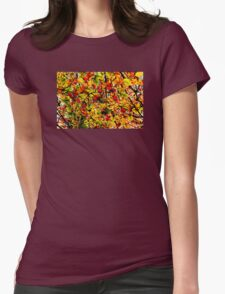 Abstract Autumn Womens Fitted T-Shirt