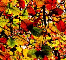 Abstract Autumn Sticker