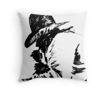 Exhausted Cowboy Throw Pillow