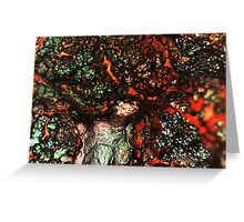 Shimmer and Simmer (Goethite) Greeting Card