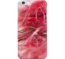 Hot Pink & Red Scarf iPhone Case/Skin
