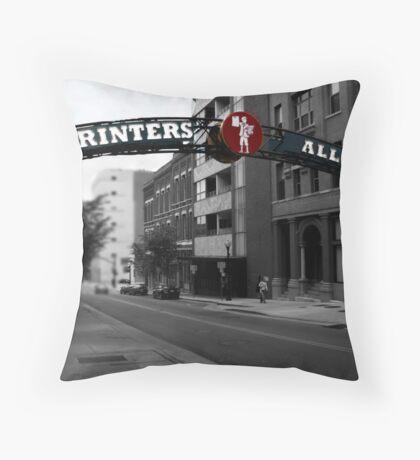 Printer's Alley Throw Pillow