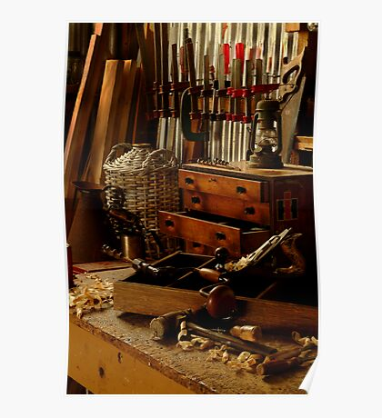 Craftman's Work Bench Poster