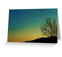 Afterglow on a Winter Evening Greeting Card