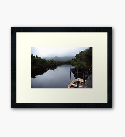 Isolated Boat Framed Print